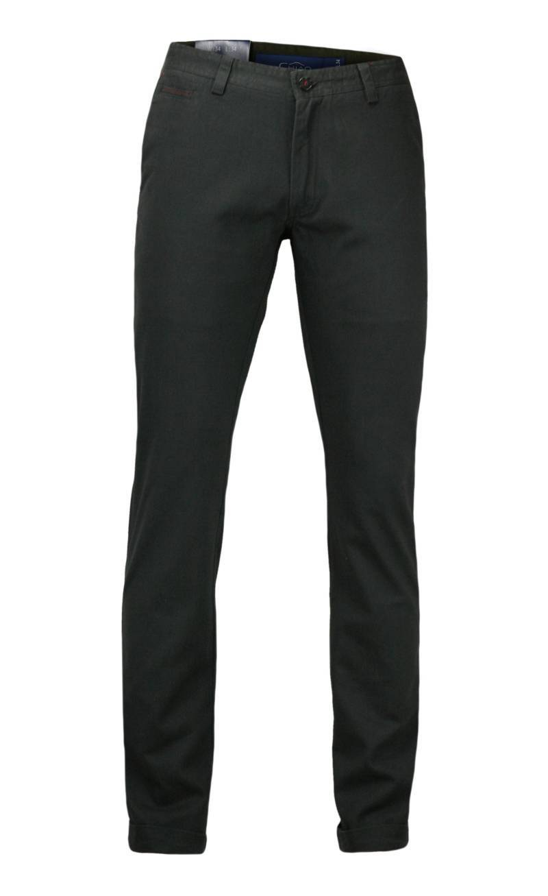 Stylowe Spodnie Męskie, 100% BAWEŁNA - Chinosy, MANKIETY, Grafitowe SPCHIAO15M4A02grafit