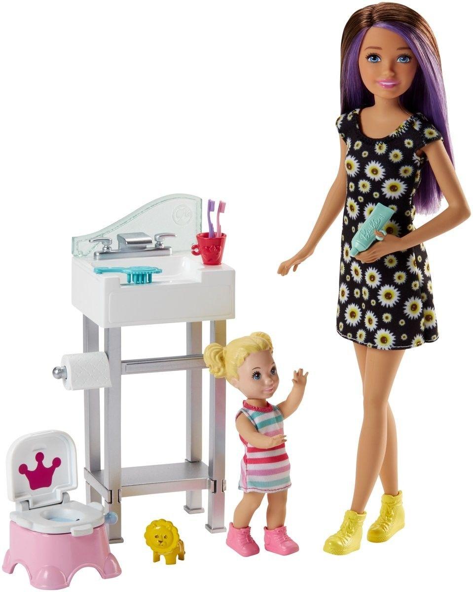 Barbie - Opiekunka dziecięca Zestaw Trening czystości Skipper FJB01