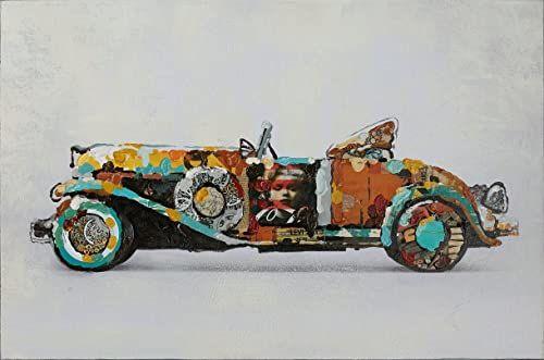 One Couture Obraz olejny obraz ścienny Oldtimer motyw auto dekoracja ścienna obraz obrazy