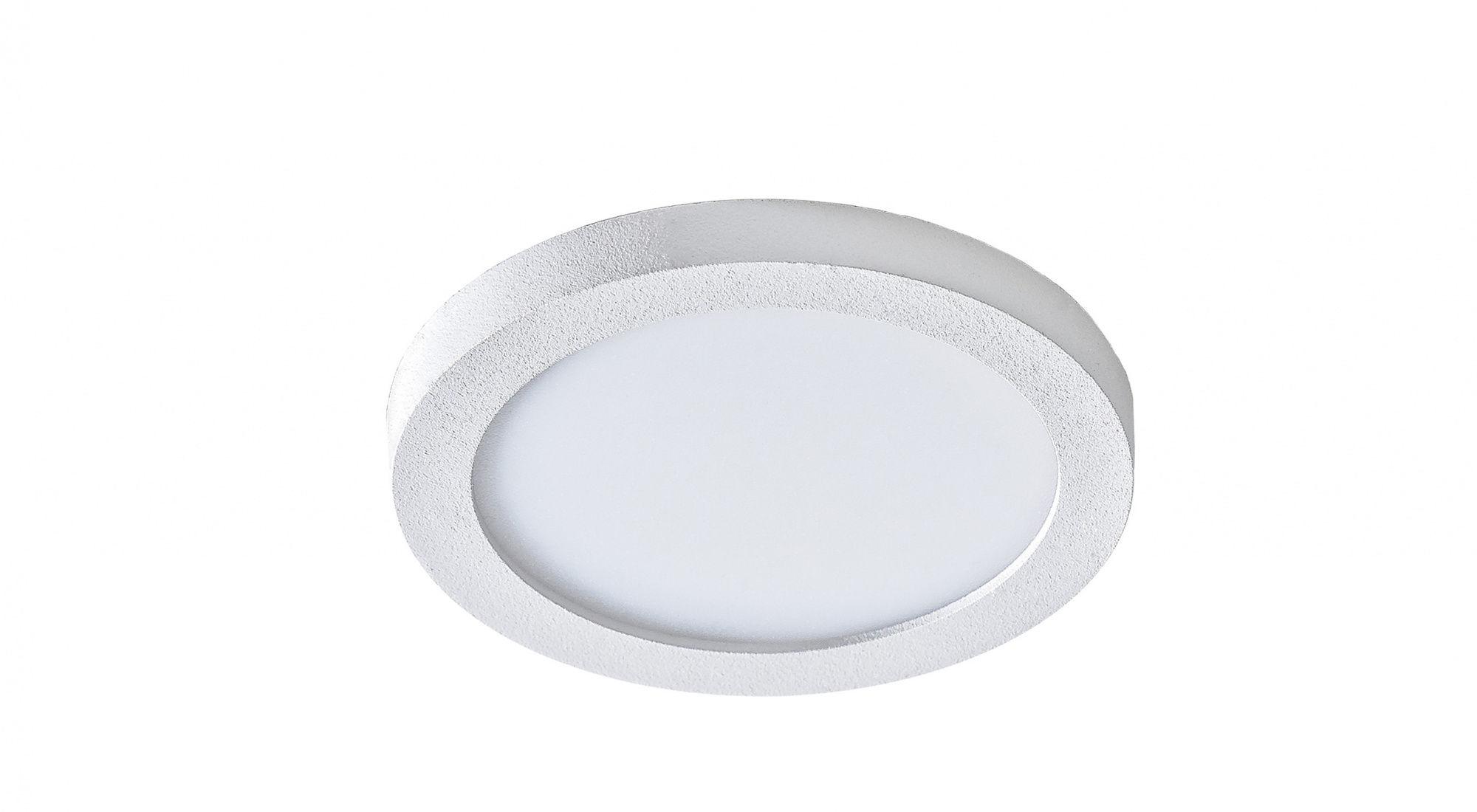 Plafon Slim round 9 AZzardo biała oprawa w nowoczesnym stylu