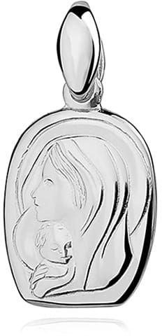 Srebrny medalik Matka Boska z dzieciątkiem