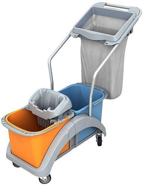 Wózek do sprzątania dwuwiadrowy TS2-0019 Splast z workiem na odpady