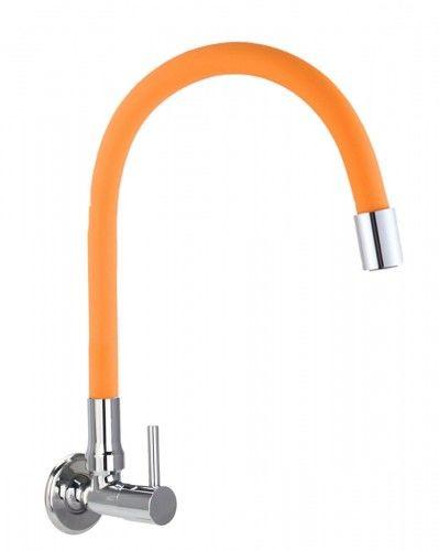 Bateria /zawór na zimną wodę ścienna pomarańczowa FLEXI Orange