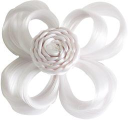 Love Hair Extensions kwiaty na zacisku krokodylkowym kolor biały, 1 opakowanie (1 x 1 sztuka)