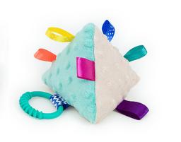 MAMO-TATO Piramidka sensoryczna dla niemowląt Beżowa