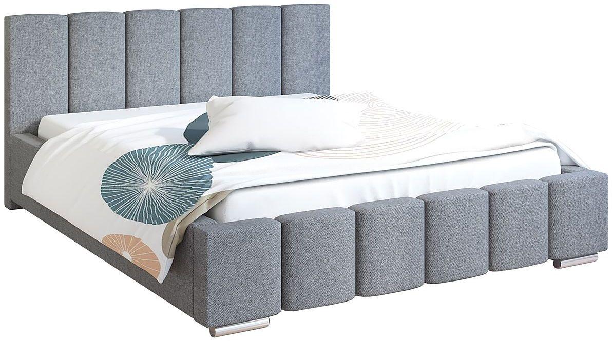 Tapicerowane łóżko 140x200 Galbano 3X - 48 kolorów