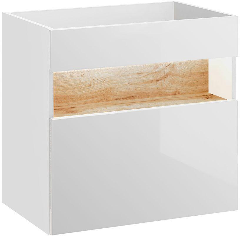 Szafka pod umywalkę Monako 2X 60 cm - Biały połysk