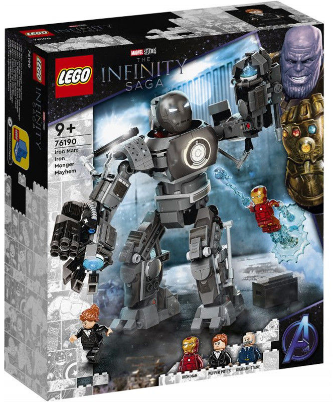 LEGO Super Heroes - Iron Man: zadyma z Iron Mongerem 76190