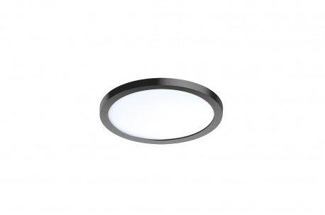 Plafon Slim round 15 AZzardo czarna oprawa w nowoczesnym stylu