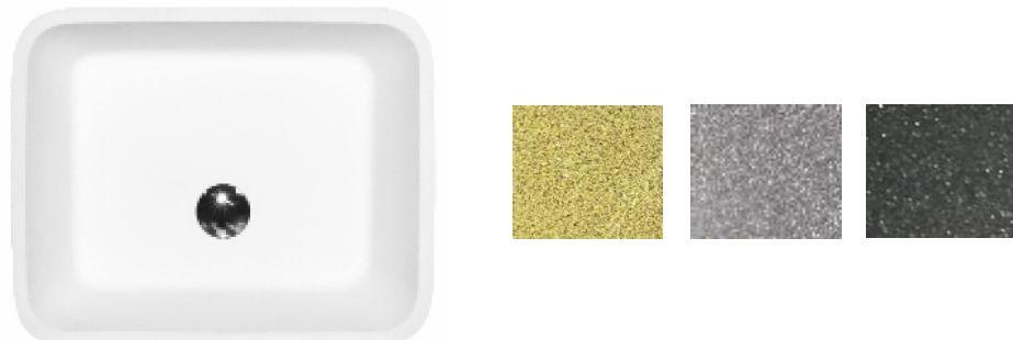 Besco umywalka nablatowa Assos Glam Grafit 40x50x15 cm biało-grafitowa
