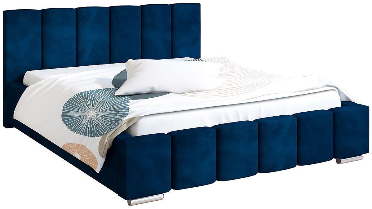 Tapicerowane łóżko 160x200 Galbano 3X - 48 kolorów