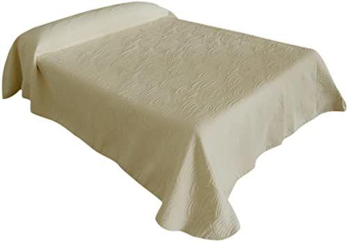 Eysa 235 cm poliester bawełna Jalea dwustronna żakardowa narzuta na łóżko, biała, bawełna, 200