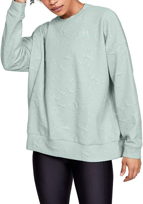 Under Armour damski Unstoppable Daytona Move Light Crew T-shirt rozgrzewający Atlas Green/Onyx White/Atlas Green (189) S-M