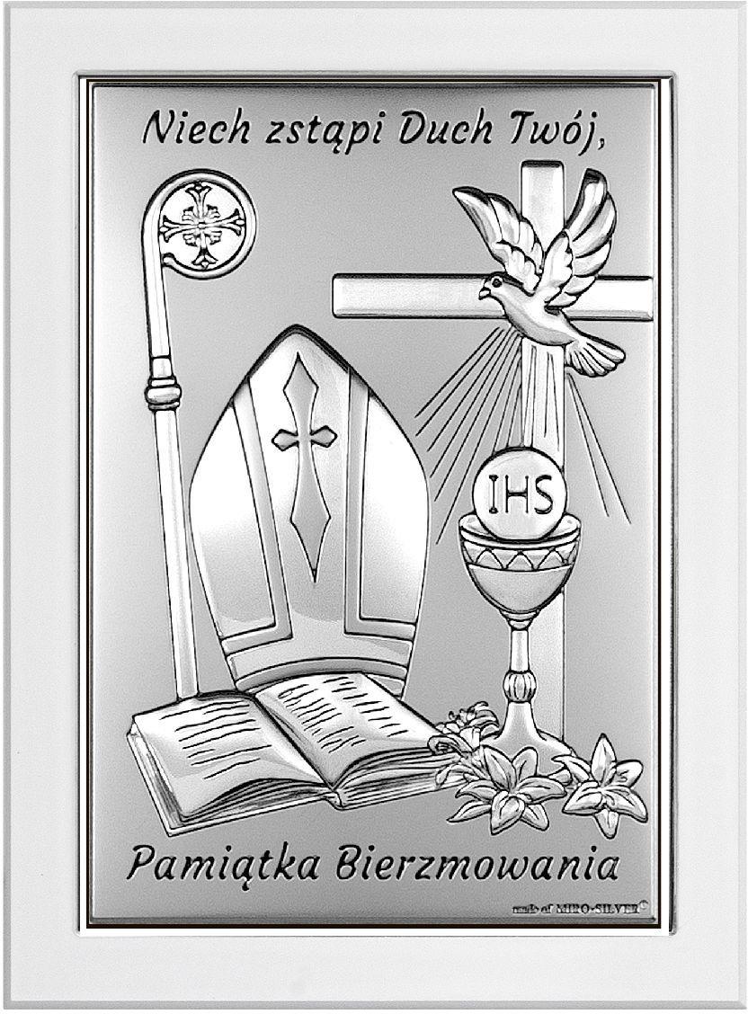 Obrazek Pamiątka Bierzmowania Rozmiar: 8x11 cm SKU: BC6721/2W