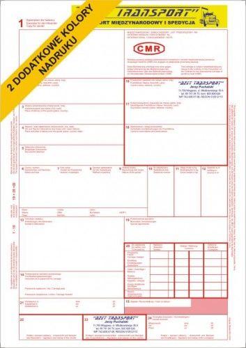 Międzynarodowy list przewozowy CMR - z LOGO klienta