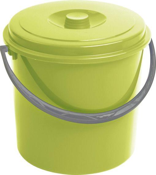 Wiadro 16L z pokrywą zielony