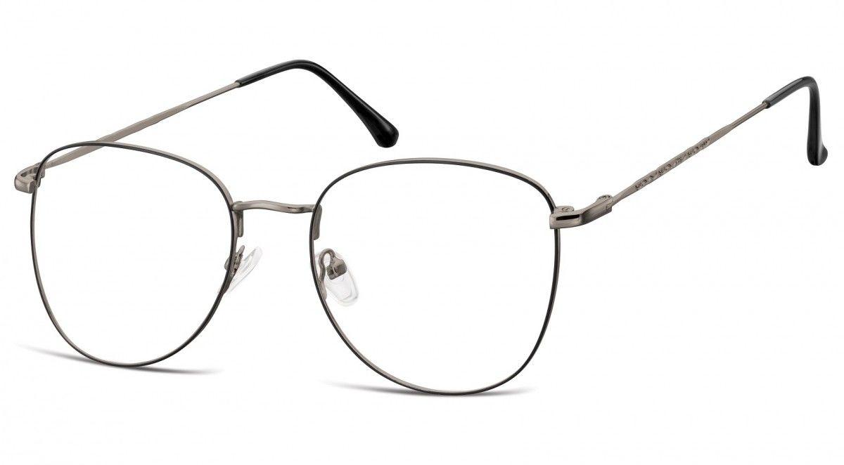 Oprawki okulary Pilotki zerówki korekcyjne 924D czarno-grafitowe