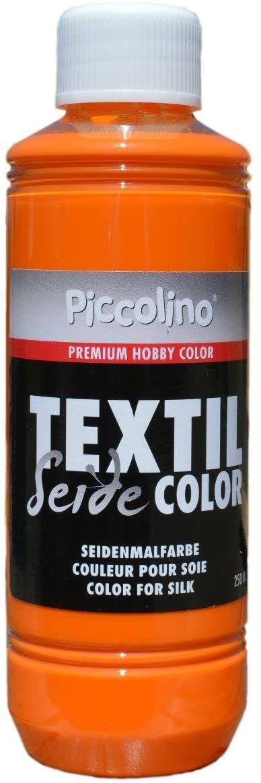 Farba do malowania jedwabiu żółto-pomarańczowa 250 ml - farba do jedwabiu Piccolino Textil Color - farba tekstylna jedwab
