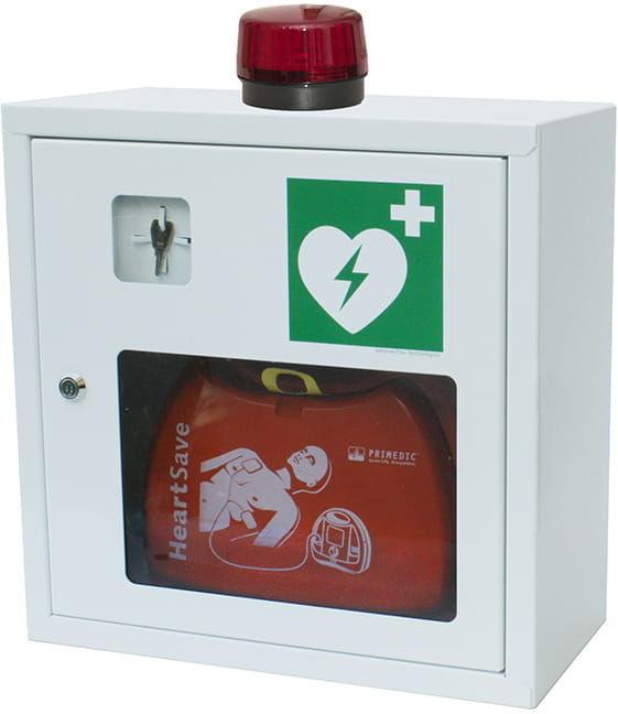 Szafka na AED z alarmem dźwiękowym i świetlnym