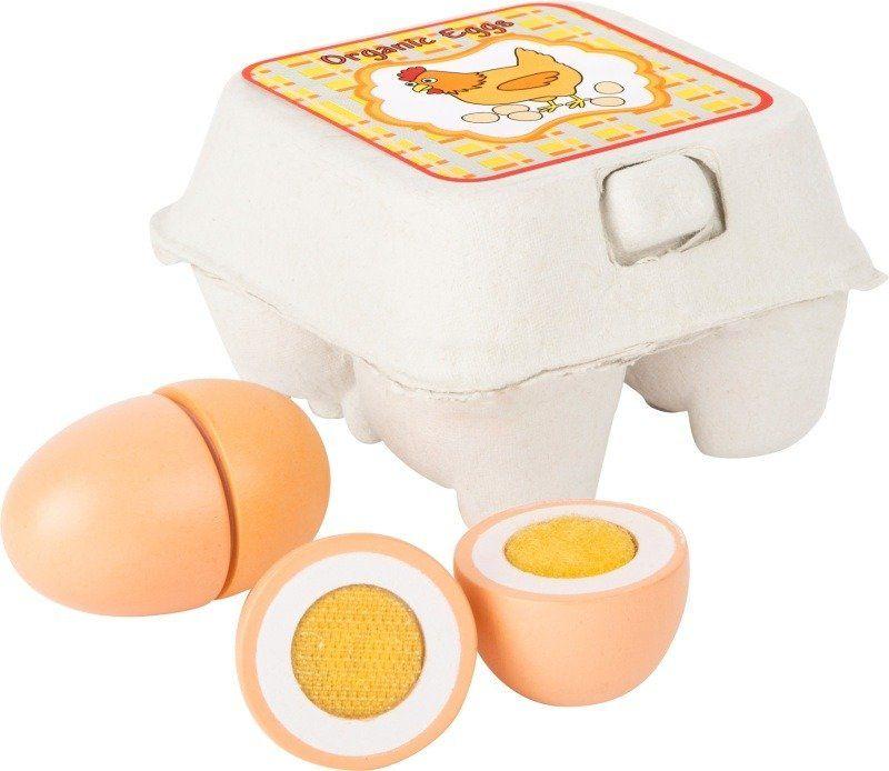 Zabawki drewniane Wiejskie jajka 10591-Small Foot, produkty spożywcze do krojenia