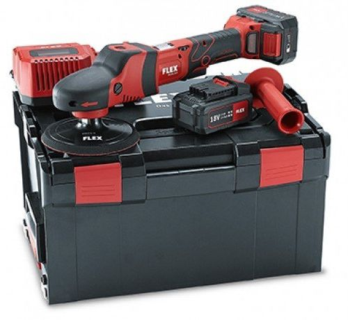 Flex PE 150  polerka rotacyjna akumulatora, zestaw z walizką + akcesoria