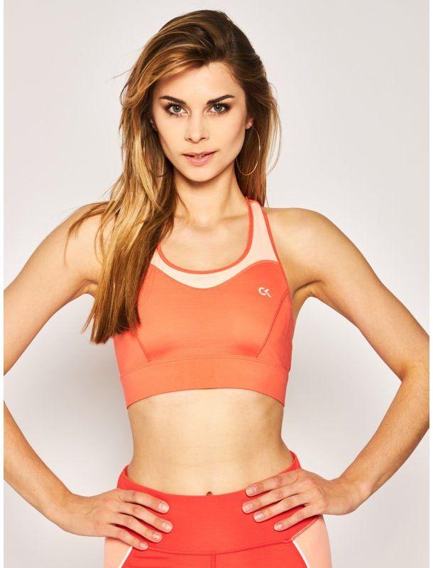 Calvin Klein Performance Biustonosz top High Support Sports Bra 00GWS0K124 Pomarańczowy