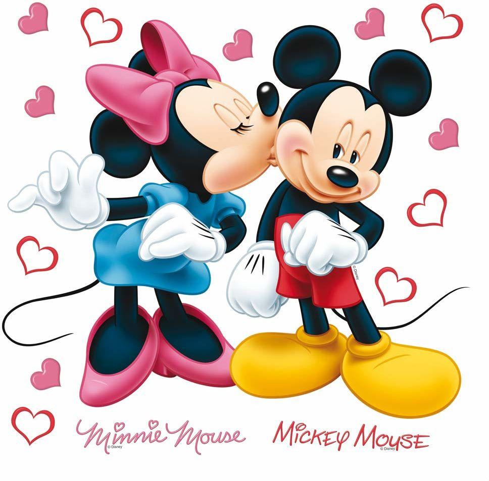 AG Design DKs 1085 Disney Micky mysz, naklejka ścienna, papier, wielokolorowa, 30 x 30 cm