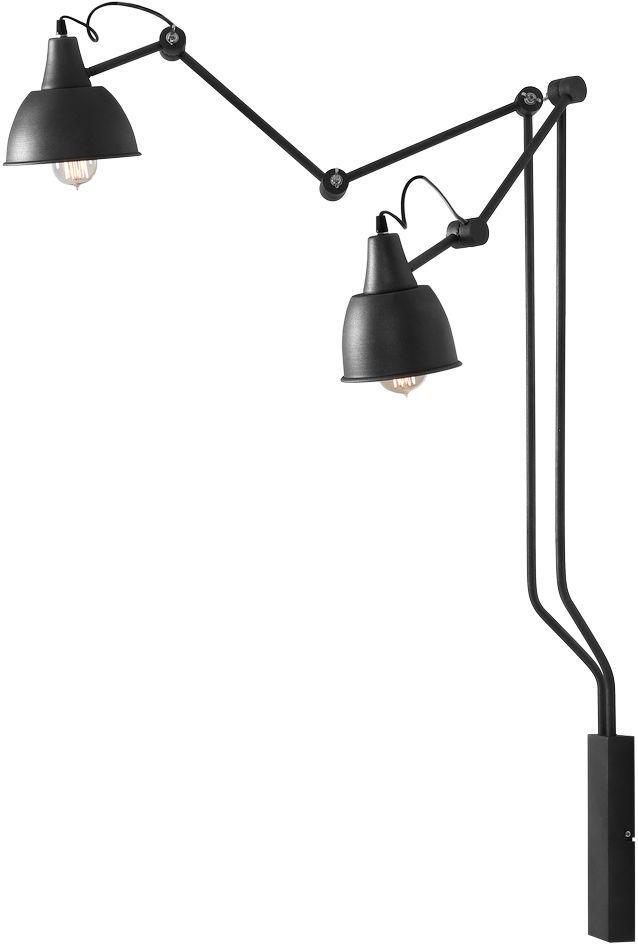 Kinkiet AIDA GREY 814D19 Aldex loftowa podwójna regulowana lampa ścienna