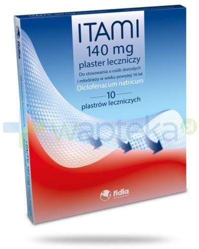 Itami plaster leczniczy 140mg 10 sztuk
