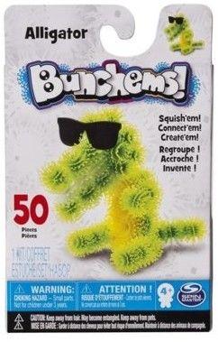 Bunchems - Zestaw uzupełniający kolorowych rzepów Aligator 50el. 82561