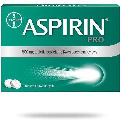 Aspirin Pro 500mg 8 tabletek powlekanych
