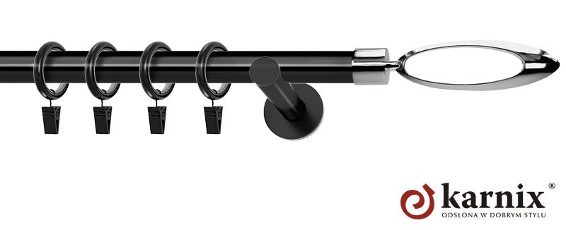 Karnisze nowoczesne NEO pojedynczy 19mm Mirella czarny
