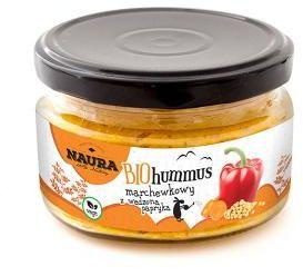 Hummus marchewkowy z wędzoną papryką BIO 190 g, NAURA