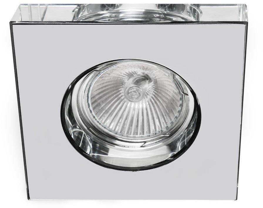 Oprawa wpuszczana Astro Cromo Orlicki Design szklane oczko stropowe w kolorze chromu