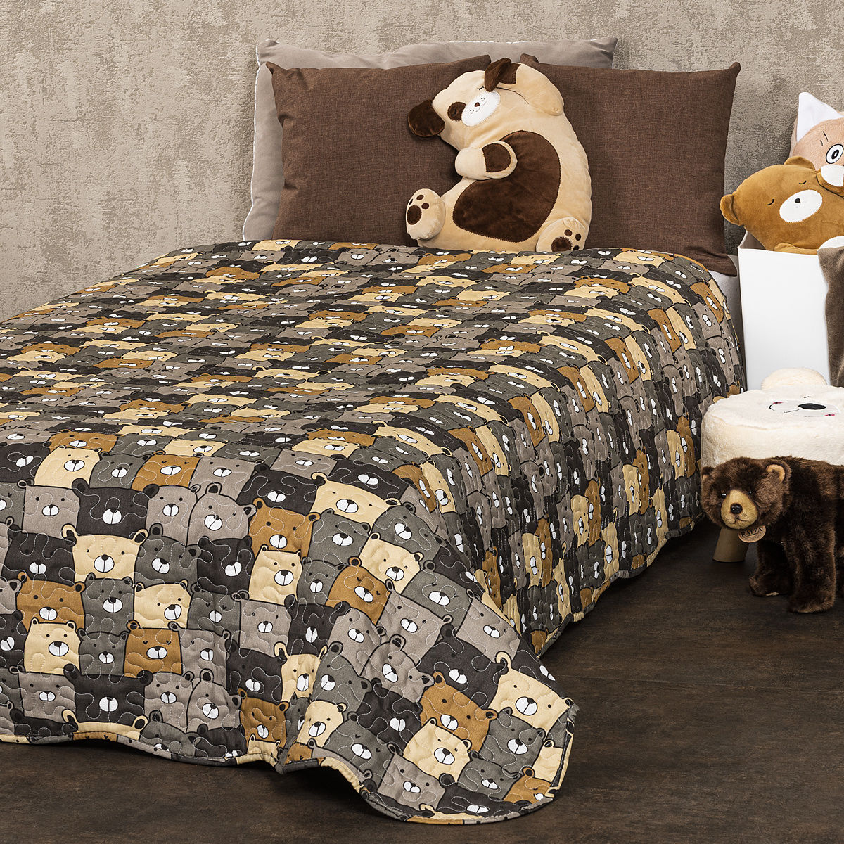 4Home Dziecięca narzuta na łóżko Misie, 150 x 200 cm