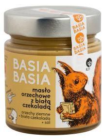 Masło orzechowe z białą czekoladą 210 g BasiaBasia