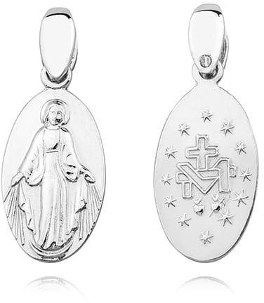 Cudowny medalik z Matką Bożą, dwustronny