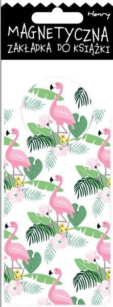 Zakładka magnetyczna Flamingi - Henry