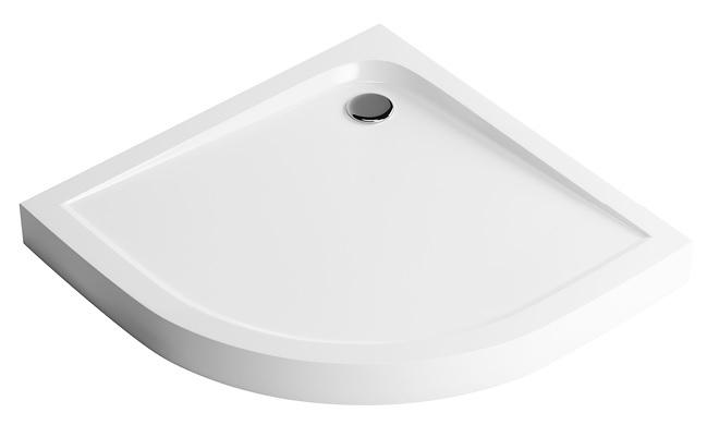Excellent Sense Brodzik półokrągły kompaktowy 80x80 biały