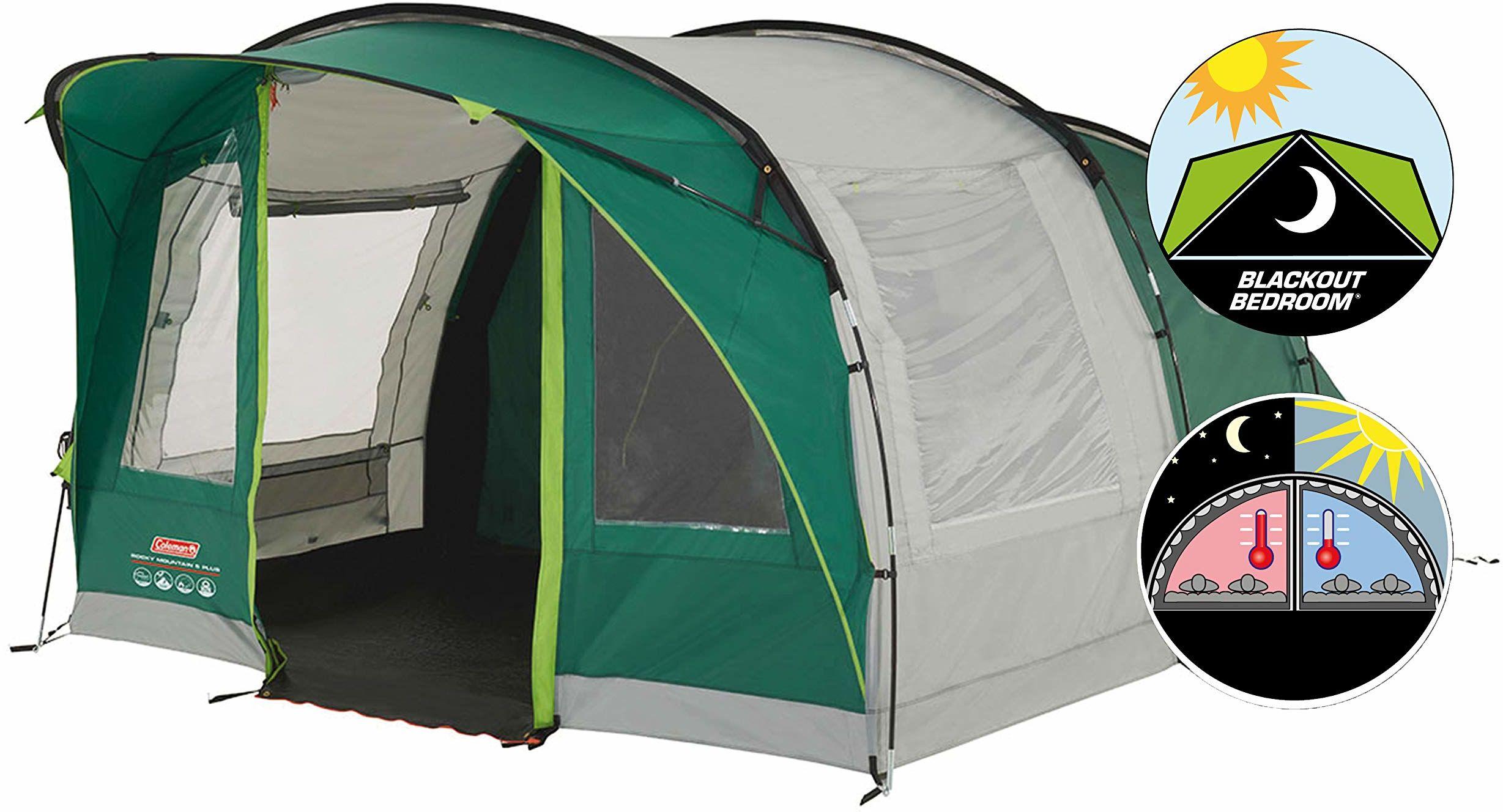 Coleman Rocky Mountain 5 Plus Namiot, Zielony/Szary, 5-osobowy