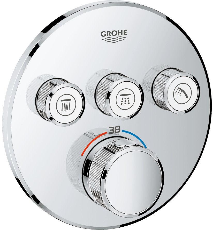 Grohtherm SmartControl Grohe bateria wannowo-prysznicowa podtynkowa termostatyczna chrom - 29121000 Darmowa dostawa