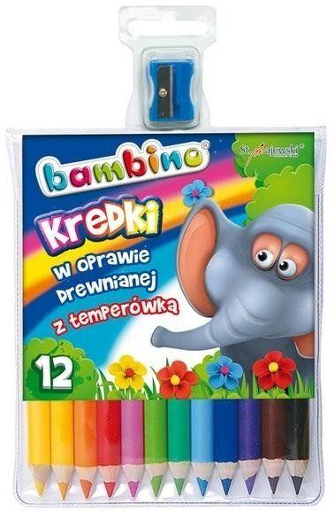 Kredki ołówkowe 12 kolorów BAMBINO - ST-MAJEWSKI