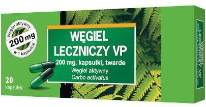 Węgiel leczniczy Vp 200 mg 20 kapsułek