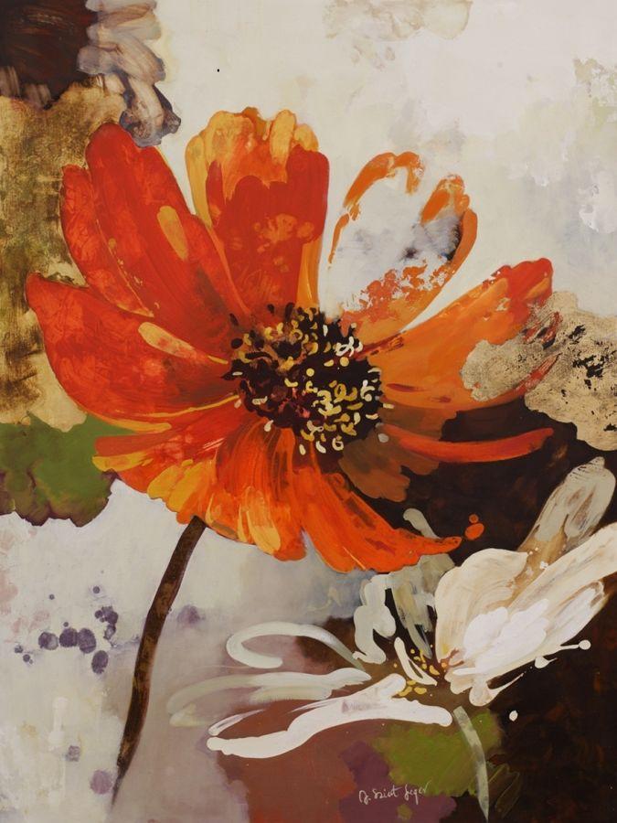 Kwiat pomarańczowy - Obraz dekoracyjny 40x50