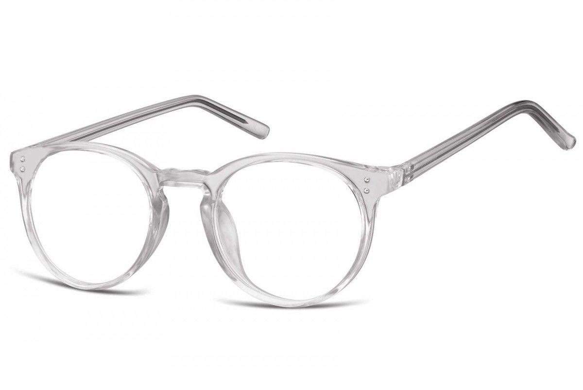 Okulary oprawki korekcyjne Lenonki zerówki transparentne Sunoptic CP123