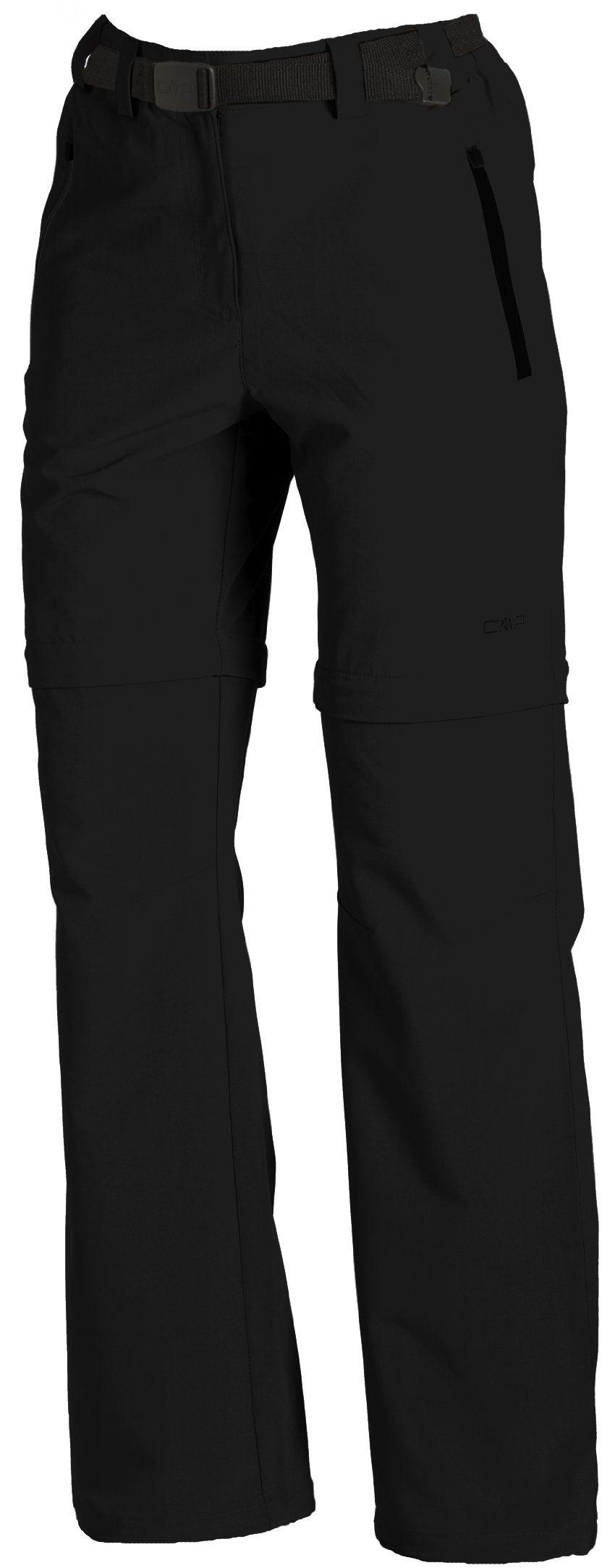 CMP Damskie spodnie z odpinanymi nogawkami czarny czarny 44