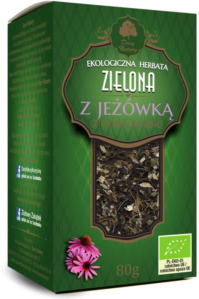 Herbata zielona z jeżówką bio 80 g - dary natury