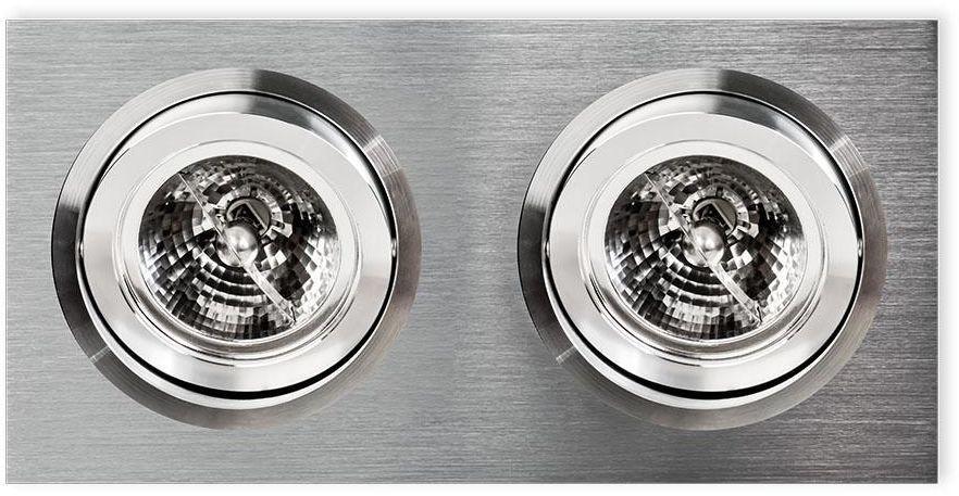 Oprawa wpuszczana Faro II Aluminio Orlicki Design minimalistyczna aluminiowa oprawa sufitowa