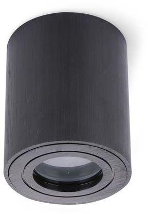 Natynkowa tuba do łazienki AQUARIUS ROUND CZARNA IP44 Kobi Light