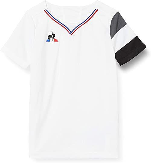 Le Coq Sportif N 5 Maillot Match Premium Ss Enfant podkoszulek, New Optical White, 6A